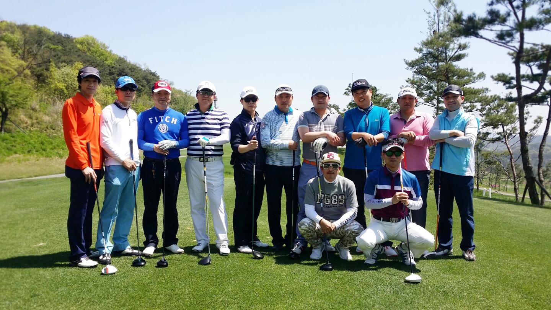 골프장단체사진